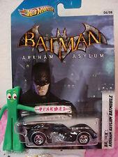 2012~Batman Commemorative Ed ∞ARKHAM ASYLUM BATMOBILE 06/08~Hot Wheels DC Comics