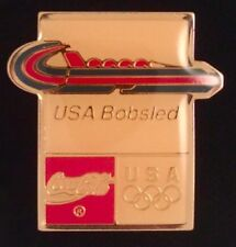 Bobsled Olympic Pin Badge~USA~1992~Albertville~Coca-Cola~Coke~Winter Games