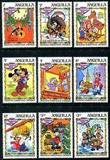 Anguilla 547-555, 1983 Walt Disney characters Mickey Dickens, Christmas  x10509