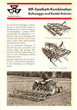 Original MF Kulturegge Kombi-Krümler  von 1965 2 Seiten Prospekt Massey Ferguson