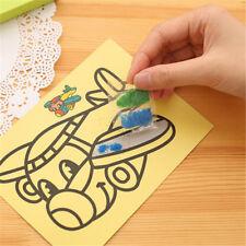 10Pcs/lot Children Drawing Sand Painting Pictures Kid DIY LJBX