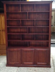 Bookcase 2100x1500 with doors stained