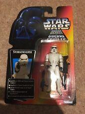 Star Wars Stormtrooper with Blaster Figure Red/orange Photo Card Kenner 1995