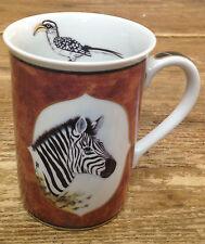 Lynn Chase African Portraits 1 Coffee Mug Zebra Jungle Animal Yellow Bill Bird
