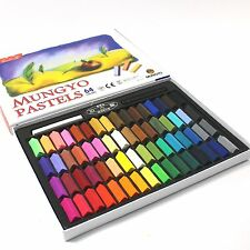 Non Toxic Soft Pastel Set of 64 Pastels Assorted Colors Square Chalk Drawing Art