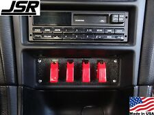 94-00 Mustang GT Cobra & V6 4 Race Toggle Switch Panel 1 DIN Stereo Delete Plate