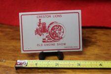 Vintage Dash Plaque 1974 Old Engine Show Creston Lions Creston, Ohio  (50c)