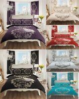 Luxury Script Paris Duvet Set 3 PCs Duvet Cover/Quilt Cover Set Bed Set Bedding