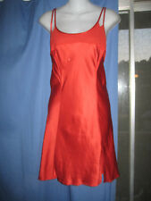 100% Silk!! Victoria's Secret Romantic Red Nightgown Slip Chemise LARGE