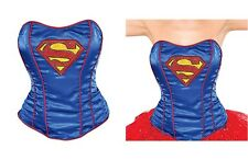 DC Comics Girl's Supergirl Corset One Piece Blue Adult Costume Sexy Lingerie L