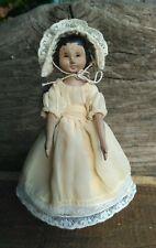 Hitty doll in a silk lacy dress,  wooden doll, artist doll