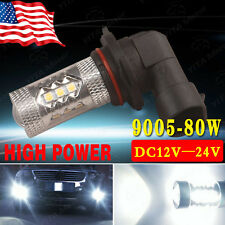 1x Pure White 9005 HB3 High Power 80W LED Car DRL Fog Driving Light Bulb