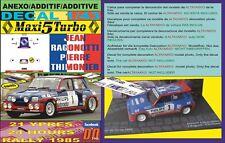 04 DECAL RENAULT 5 TURBO CHUS PURAS R.CALES DE PALAFRUGELL GIRONA 1986