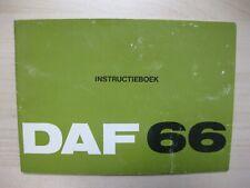 DAF 66 Instructieboek Manual 54 pages Dutch text 1973
