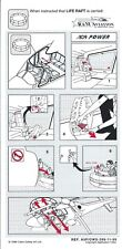 Safety Card - R&M Aviation - Agusta AO9 Power Helicopter Life Raft 1999 (S3826)