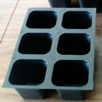 Seed starter trays 432 LARGE CELLS total (72 trays of 6 cells each)