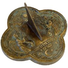 "Angel Verdigris Brass 9.375"" Sundial by Rome Industries"