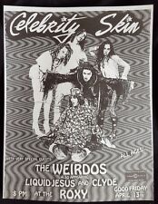 CELEBRITY SKIN/THE WEIRDOS Original Concert Flyer 1990 LA Post Punk Glam GERMS