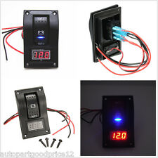 Car Marine Boat Voltage LED Voltmeter Dual Battery Test Rocker Switch ON-OFF-ON