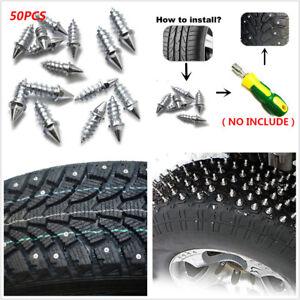 50pc Winter Car Anti Slip Screw Stud Wheel Tire Snow Nail Spike Anti-Slip Screws