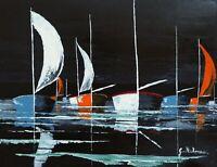 Tableau- Les voiliers- 65x50 cm - Acrylique- G.Pachet Micheneau