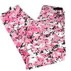 Rothco BDU Women's Pink Digital Camo Pattern Army Pants Adjustable Waist Medium