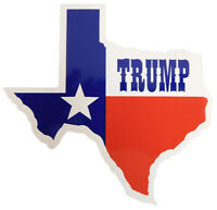 State of Texas Flag Map TRUMP Vinyl Decal Bumper Sticker