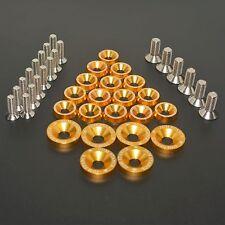 GOLD 21PC FULL DRESS UP SET/KIT WASHERS/BOLTS FOR HONDA RUCKUS ZOOMER M8 M6