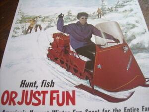 1962 Vintage POLARIS SNO TRAVELER Snowmobile Dealer Brochure