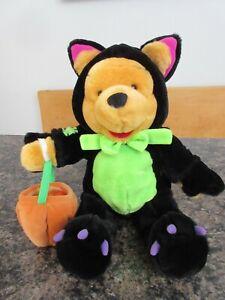 Disney Winnie The Pooh In Black Kitty Cat Large Plush Doll Halloween Costume