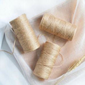 100m Natural Jute Twine Burlap String Rope Party Wedding Gift Wrap Home Decor F2