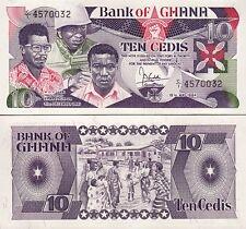 Ghana 10 Cedis 15-05-1984, UNC, P-23a, Prefix C1