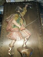 Vintage Irish Warrior Solder Embossed Picture!!!