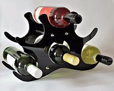 Decorativo Fancy VINO PORTABOTTIGLIE FREE STANDING -6 BOTTIGLIA regalo di stoccaggio (Black-1)