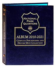Whitman Classic Coin Album 3057 National Park Quarter 2010-2021 P & D Mints