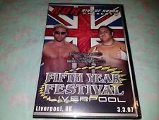 ROH Fifth Year Festival Liverpool 3-3-07 NEW Samoa Joe NXT WWE Ring of Honor DVD