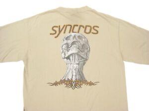 1990s vtg SYNCROS CYCLING COMPONENTES WHEEL HUB LONG SLEEVE TEE L T-Shirt Bike