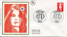 FRANCE FDC - 2713 1 MARIANNE DE BRIAT - 19 Aout 1991 - LUXE sur soie