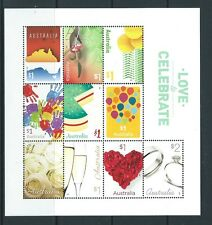 AUSTRALIA 2016 LOVE TO CELEBRATE SHEETLET OF 10 UNMOUNTED MINT, MNH