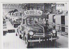 carte postale - RENAULT 4CV - 10 000 EME - EXPORT JAPON 1958