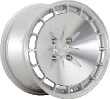 16X8 Klutch KM16 4x100mm ET15 Silver Wheels Rims Fits Civic Ef Ek Eg Miata Mr2