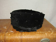 Vtg Womens Beaded Pillbox Hat Dressy Art Deco 1920s 30s 40s Small Medium Black