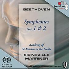 Neville Marriner, Ludwig van Beethoven - Symphonies 1 & 2 [New SACD] Hybrid SACD