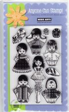WORLD DOLLS - Hero Arts Poly Clear Stamp Set ***LAST ONE***