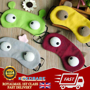 Cute Soft Sleeping big Eye Mask Adult Kids Face Cover Blindfold Comfortable UK