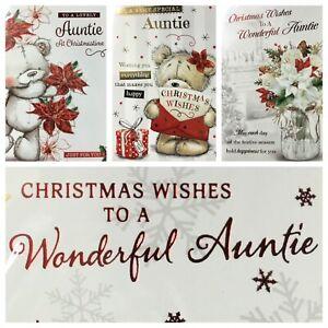 """AUNTIE CHRISTMAS CARD  5.5""""x7.5""""  (XMAS9)"""
