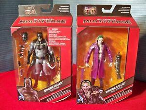DC Multiverse Suicide Squad Batman & Joker Purple Coat Killer Croc Collect
