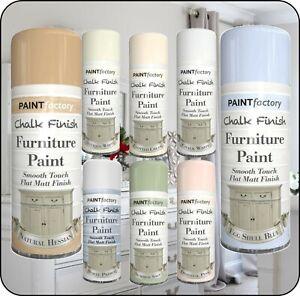 Chalk Finish Furniture Spray Paint Aerosol Smooth Touch Matt Finish DIY 400ml