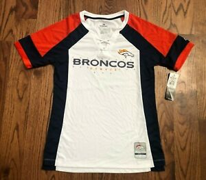 Denver Broncos Majestic Fan Fashion Lace Up Football Jersey Women's Small NWT
