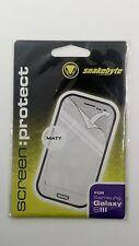 Displayschutzfolie für Samsung Galaxy SIII - Matt-Effekt - Von Snakebyte - Neu
